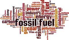 Fossil fuel word cloud Stock Illustration