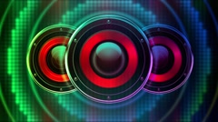 Creative Speakers Playing 7 Stock Footage