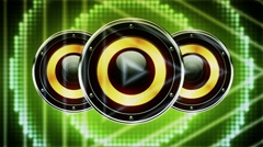 Creative Speakers Playing 9 Stock Footage