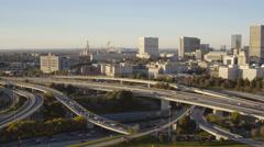 Atlanta Aerial over freeway interchange Stock Footage