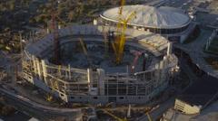 Atlanta Aerial backwards from stadium - stock footage