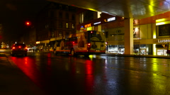Timelapse of rush-hour traffic, Wiesbaden - Germany - stock footage