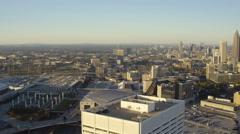 Atlanta Aerial over building Stock Footage