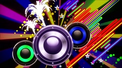 Abstract Speakers Playing Stock Footage