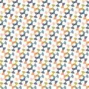 Seamless Colorful Abstract Pattern from Repetitive Concentric Arcs Stock Illustration