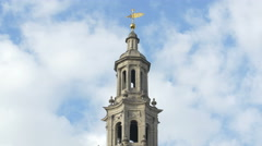 St Clement Danes tower in London Stock Footage