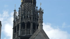 Statues on the Royal Courts of Justice in London Stock Footage