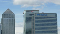 HSBC Bank and Barclays Bank in London Stock Footage