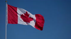 Canada Flag Blowing in the Wind. Stock Footage