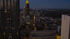 Atlanta Aerial through downtown panning Stock Footage