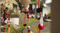 Bali decorations on street Stock Footage