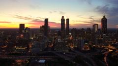 Atlanta Aerial cityscape panning - stock footage