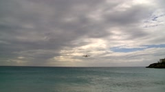 St Maarten - airplane 1 Stock Footage