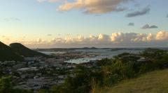 St Maarten - city1 Stock Footage
