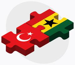 Turkey and Ghana Flags Stock Illustration