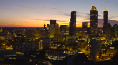 Atlanta Aerial cityscape panning Stock Footage