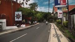 Street In Seminyak Area Stock Footage