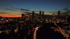 Atlanta Aerial towards downtown Stock Footage
