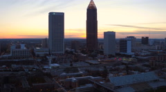 Atlanta Aerial over downtown Stock Footage