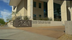 County office building Stock Footage