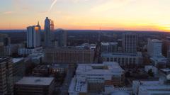 Atlanta Aerial cityscape panning Stock Footage