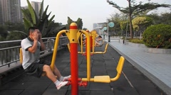 People in the morning exercise, in China Stock Footage