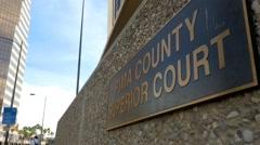 Pima County Superior Court in Tucson, AZ Stock Footage
