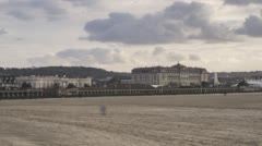 Deauville, France - Timelapse  - The Casino Stock Footage