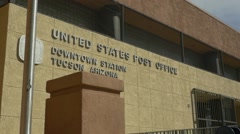 US Post Office in Tucson, AZ Stock Footage