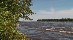Lachine Rapids Montreal - stock footage