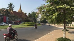 Traffic in the streets of Phnom Penh Stock Footage