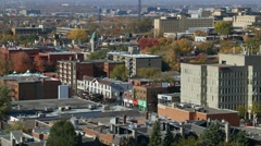 Montreal residential area  Quebec, Canada 4 Stock Footage