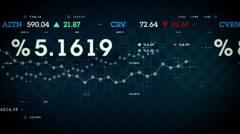 Market Data Blue Stock Footage