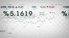 Market Data White Stock Footage