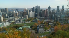 Montreal downtown autumn 3 Stock Footage