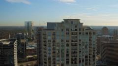 Atlanta Aerial over Buckhead - stock footage
