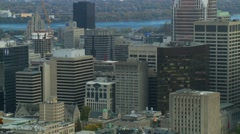 Montreal downtown autumn 11 Stock Footage
