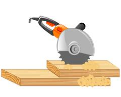 Electric tools cutter - stock illustration