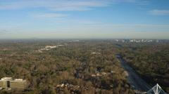 Atlanta Aerial over Buckhead Stock Footage