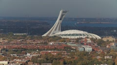 Montreal Olympic Stadium -autumn 3 Stock Footage