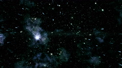 Flying through star fields in deep space - Space 2001 HD, 4K Stock Video Stock Footage