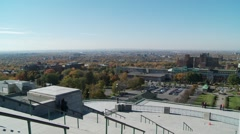 Montreal view from Saint Joseph's Oratory of Mount Royal Stock Footage
