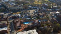 Atlanta Aerial over MLK Center Stock Footage