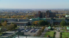 Montreal view from Saint Joseph's Oratory of Mount Royal 3 Stock Footage