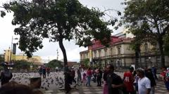 Plaza de la Cultura in San Jose, Costa Rica Stock Footage