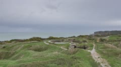 Grandcamp-Maisy, France - Timelapse  - The Pointe du Hoc Stock Footage