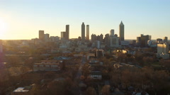 Atlanta Aerial over Old Forth Ward Stock Footage
