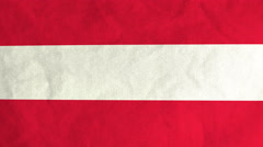 Austrian flag waving in the wind (full frame footage) Stock Footage