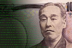 Stock Illustration of Concept graphic depicting Fintech on Japanese 10000 bill