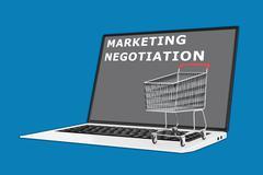 Marketing Negotiation concept - stock illustration